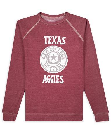 Texas A&M Raglan Fleece Crew