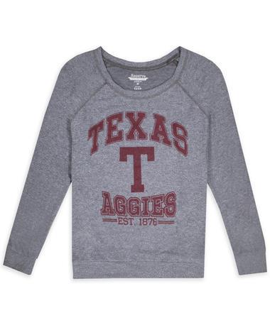 Texas A&M Aggies Block T Hacci 3/4 Raglan