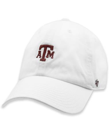 Texas A&M Aggies White Centerfield Block Hat