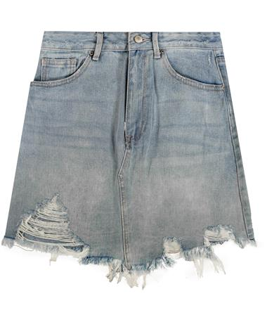 Washed Out Denim Skirt