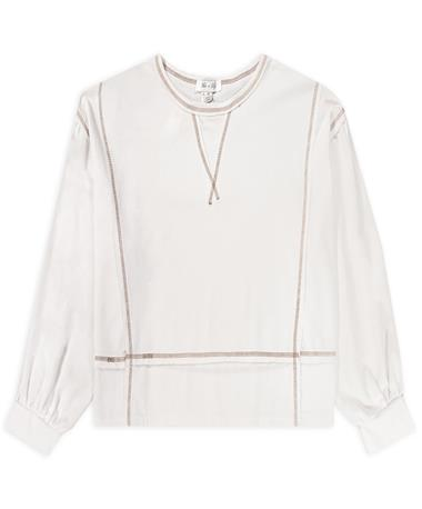 Long Sleeve Knit Stitch Detail Top