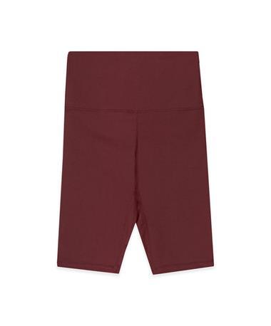 Maroon Plain Athletic Biker Shorts