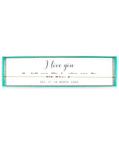 I Love You Morse Code Necklace