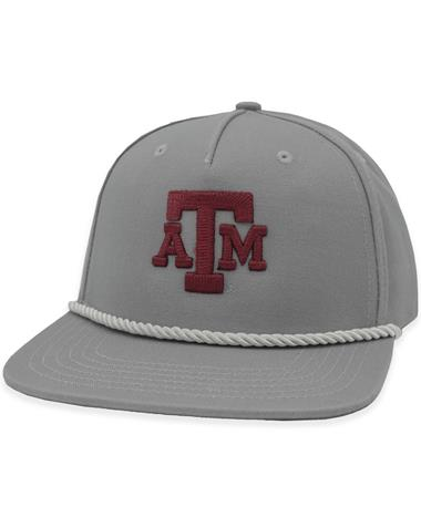 Texas A&M Gray Rope Block ATM Cap