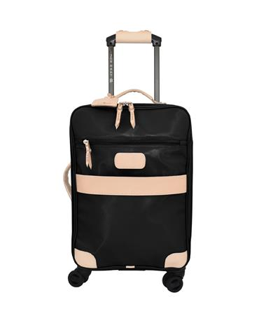 Jon Hart Black 360 Wheels Carry On Suitcase
