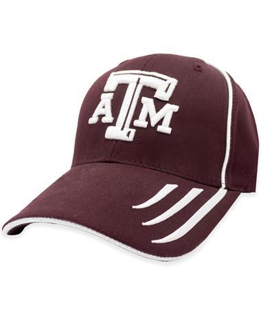 Texas A&M 3-Striped Maroon Hat