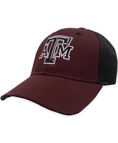 Texas A&M Maroon & Black Bevelled ATM hat