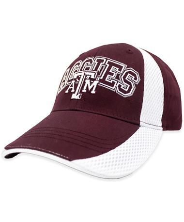 Texas A&M Aggies White Line Hat