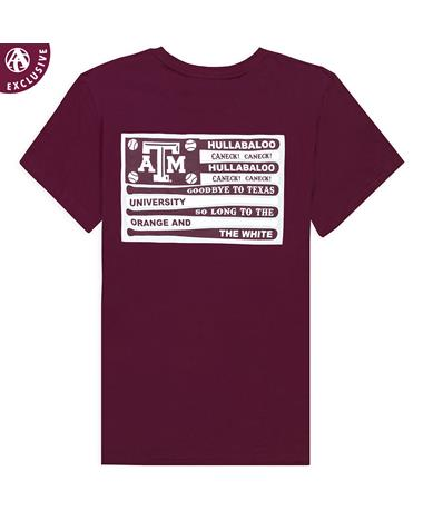 Texas A&M Bat Flags Baseball T-Shirt