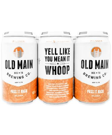 IN STORE PICKUP OR LOCAL DELIVERY ONLY: Old Main Brewing Co. Pass It Back Pilsner 6-Pack Beer
