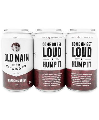 IN STORE PICKUP OR LOCAL DELIVERY ONLY: Old Main Brewing Co. Wrecking Brew IPA 6-Pack Beer