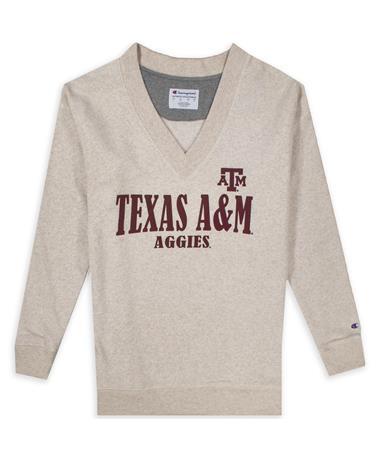 Texas A&M Champion Triumph Fleece V-Neck Pullover