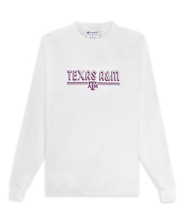 Texas A&M Champion Powerblend Raised Letters Sweatshirt