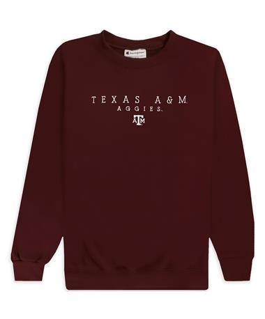 Texas A&M Aggies Champion Small Logo Powerblend Sweatshirt