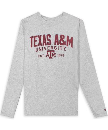 Texas A&M Champion Grey Field Day LS Tee