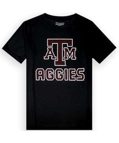 Texas A&M Champion Youth Athletic Black Short Sleeve T-Shirt
