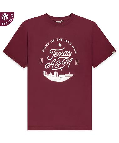 Texas A&M Home of the 12th Man Skyline T-Shirt