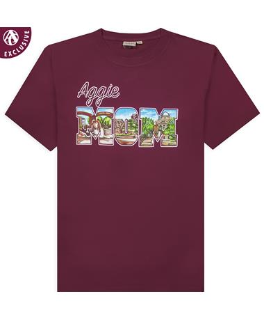 Texas A&M Aggie Mom Collage Shirt