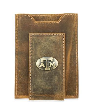 Texas A&M Embossed Front Pocket Wallet