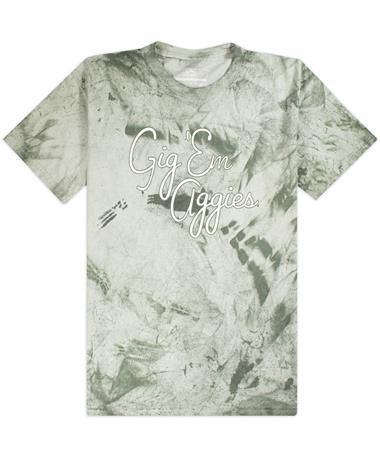 Gig 'Em Aggies Script Blast T-Shirt