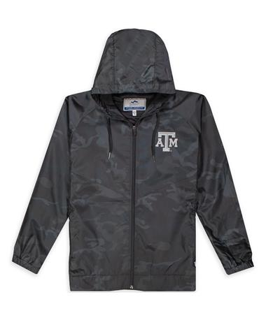 Texas A&M Summit Camo Full Zip Rain Jacket