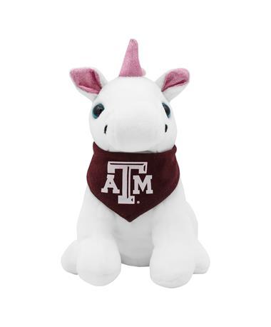 Texas A&M Pink Palms Bandana Unicorn Plush Toy