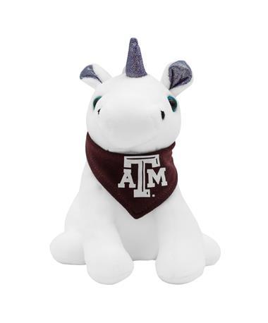 Texas A&M Purple Palms Bandana Unicorn Plush Toy