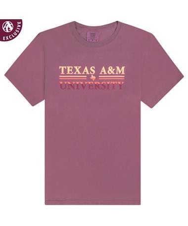 Texas A&M Gradient Double Bar T-Shirt