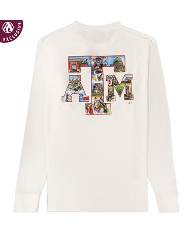 Texas A&M Picture Block ATM Long Sleeve T-Shirt