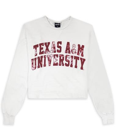 Texas A&M Logo Tie Dye Slouchy Crop Top