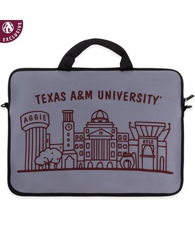 Texas A&M Aggie Skyline Laptop Case