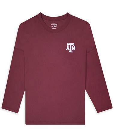 Texas A&M League Ladies Clothesline Oversized Long Sleeve