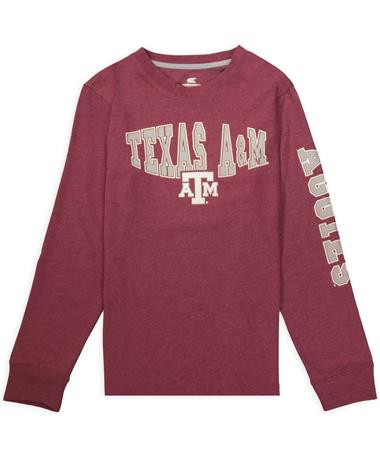 Texas A&M Colosseum Youth Spike Long Sleeve T-Shirt