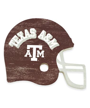 Texas A&M Wooden Football Helmet Decor