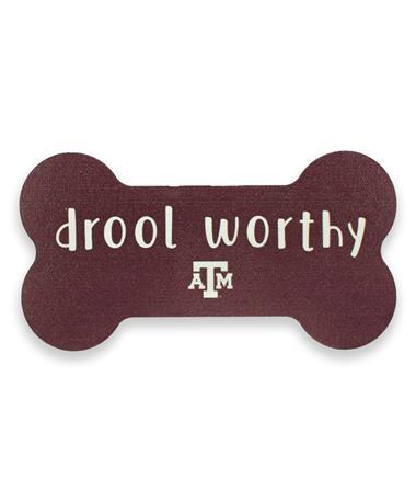 Texas A&M Drool Worthy Dog Bone Magnet
