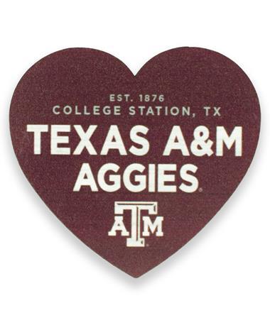 Texas A&M Aggies League Heart Magnet