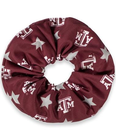 Texas A&M League Star Print Scrunchie