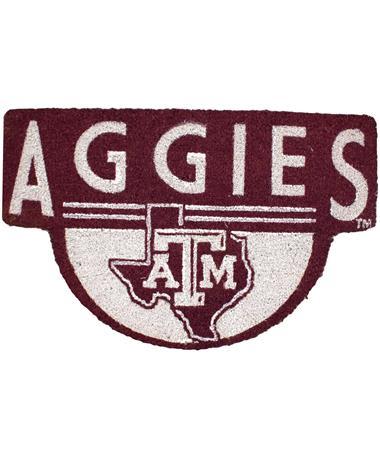Texas A&M Aggies Lone Star Shaped Coir Door Mat