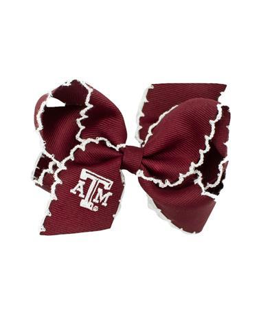 Texas A&M Embroidered Medium Bow