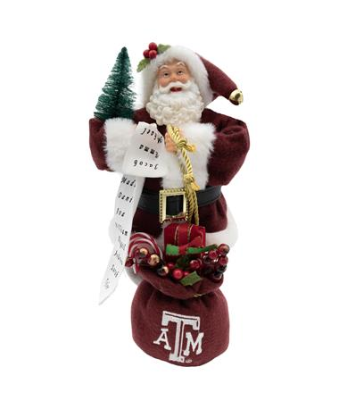 Texas A&M Santa Claus With Bag and List