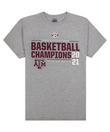 Texas A&M Women's Basketball 2021 SEC Champions T-Shirt