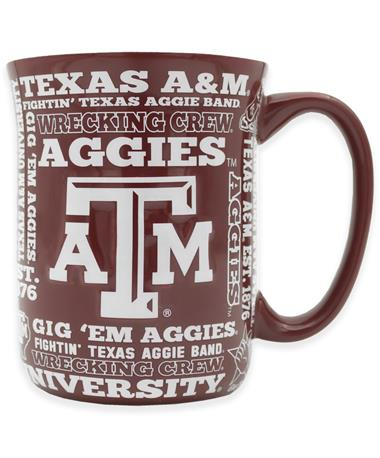 Texas A&M Aggies Multi-Phrase Mug