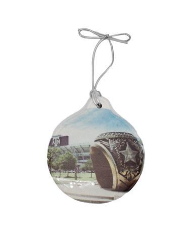 Texas A&M Aggie Ring Circle Stone Ornament