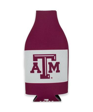 Texas A&M Zippered Coolie Bottle Koozie