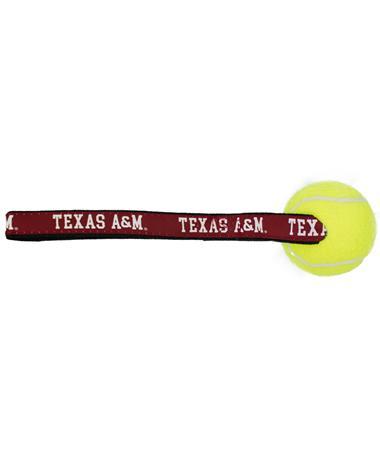 Texas A&M Woven Tennis Ball Toss Toy