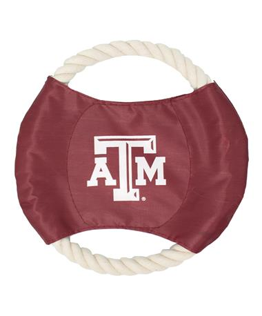 Texas A&M Rope Disc Dog Toy