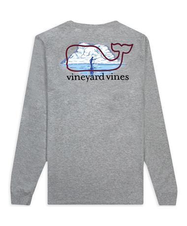 Texas A&M Vineyard Vines Grey Long Sleeve Fishing T-Shirt