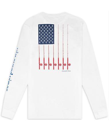 Texas A&M Vineyard Vines Fishing Rods Flag Long Sleeve T-Shirt