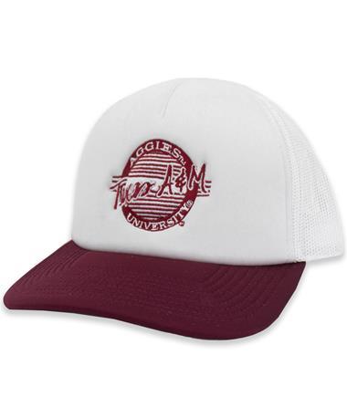 Texas A&M Circle Vintage Foam Circle Trucker Hat