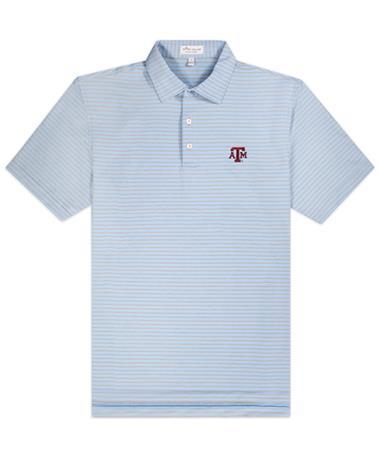 Texas A&M Peter Millar Mills Stripe Jersey Polo